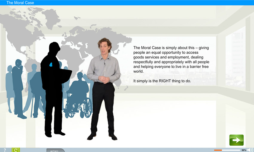 e-learning screenshot from e-learning wmb